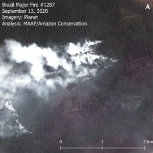 Forest Fire in the Brazilian Amazon (Mato Grosso). Data: Planet.