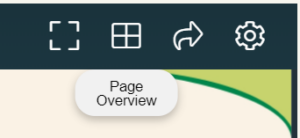 Screenshot of how to see report overview