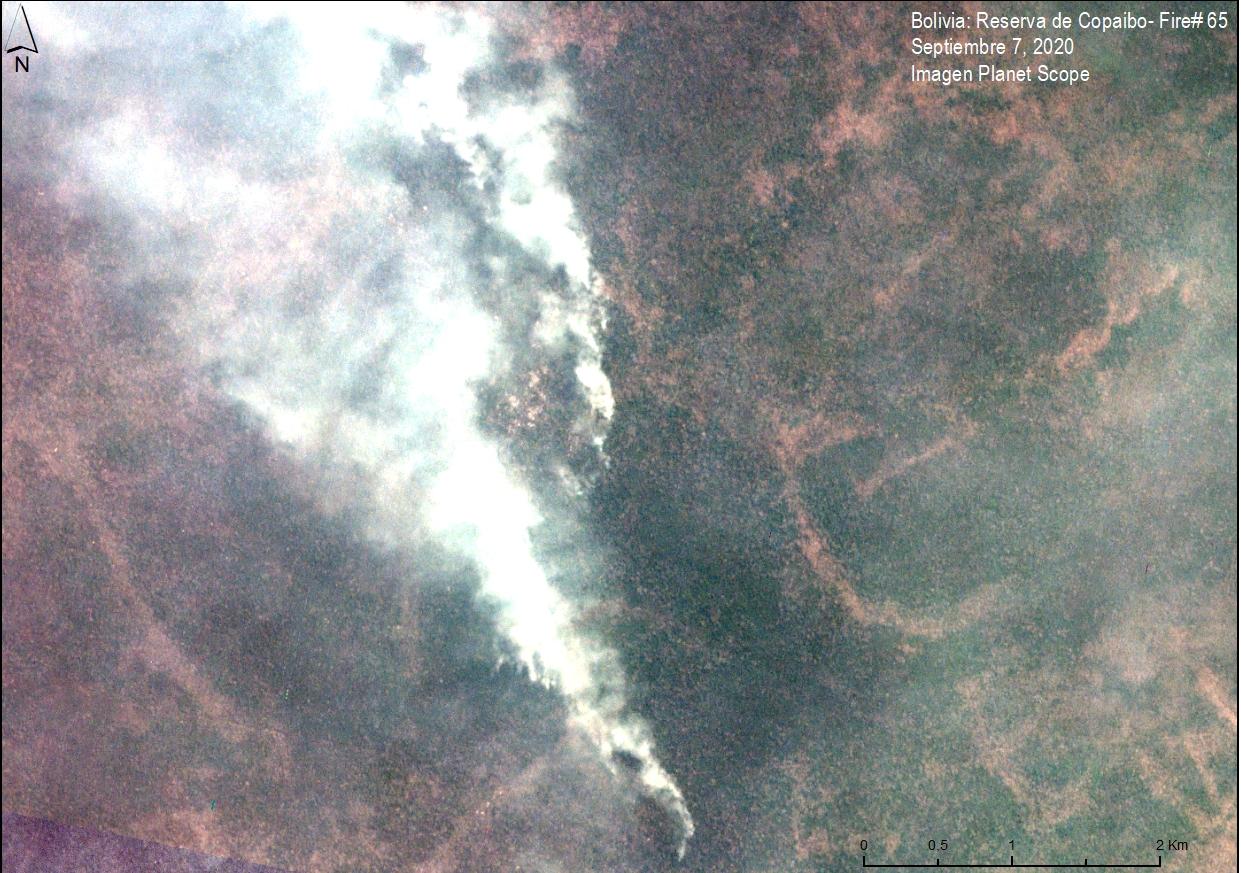Image 2. Major Fire #65 (September 7, 2020). Data: Planet.