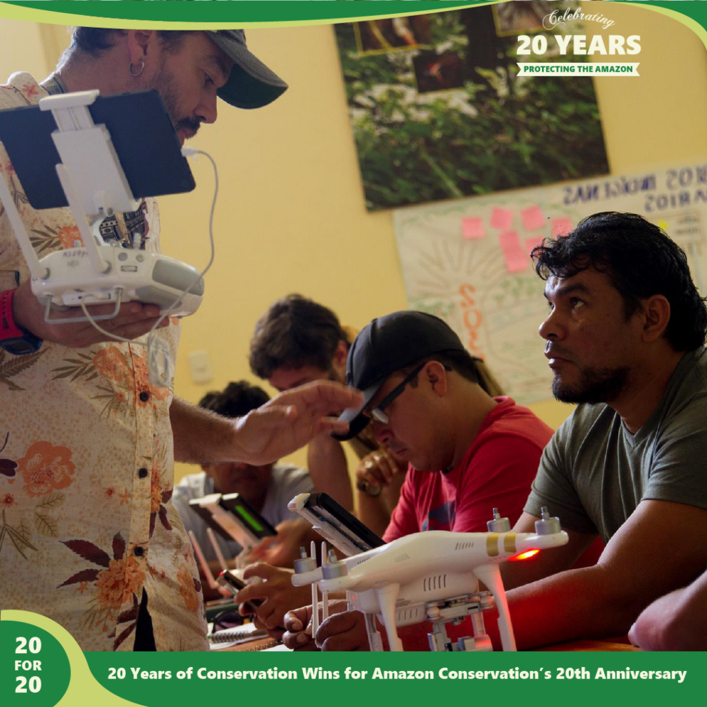 Southwest Amazon Drone Center as a part of the sustainable forest products program by Amazon Conservation,part of 20 for 20 Years of Conservation Wins by Amazon Conservation