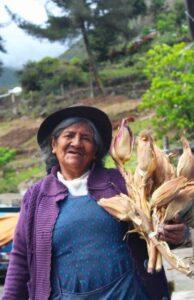 woman in marcapata ccollana agrobiodiversity zone