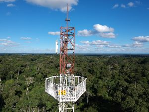 Photo of PUCP researchers on Amazon Conservation's Los Amigos Tower